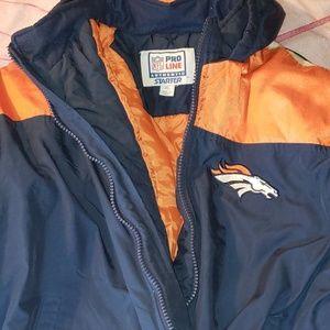Boys XL vintage 90's starter pro line Broncos coat